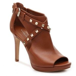 Marc Fisher Mahiya dark brown rockstud bootie 9